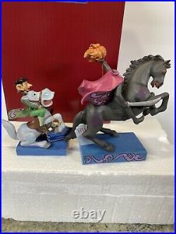 Jim Shore Disney Heads Up Ichabod! - Headless Horseman & Ichabod Crane Halloween
