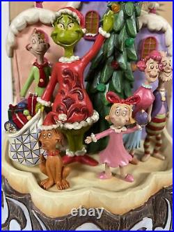 Jim Shore Grinch Max Cindy Lighted Carved By Heart Christmas Whoville Lighted