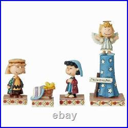 Jim Shore Peanuts Christmas Nativity Pageant 4062075 Retired