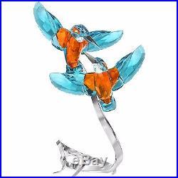 Kingfishers Turquise Paradise Bird Couple 2016 Swarovski Crystal #5136835