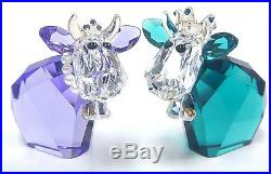 King & Queen Mo, Limited Edition Cow Set 2017 Swarovski Crystal #5270746