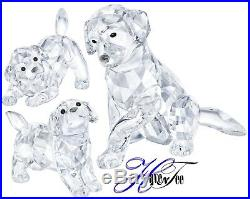 Labrador Dogs 3 Piece Set Dogs Mother And Puppy Puppies 2018 Swarovski Crystal