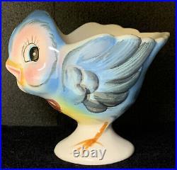 Lefton Bluebird Egg Cup Blue Bird of Happiness! Anthropomorphic 7174 Vintage