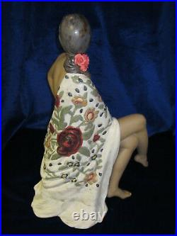 Lladro #12536 Nude With Shawl Woman Brand New In Box Gres Large Elegant Save$ Fs