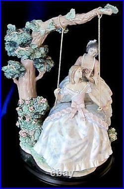 Lladro #1868 A Quiet Conversation Brand Nib Ladies Swing Limited Rare $1000 Off