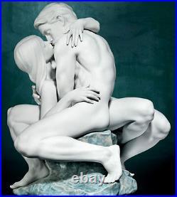 Lladro A Passionate Kiss White Brand New In Box #8727 Nude Love Romance Save$ Fs