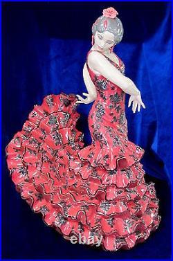 Lladro Flamenco Flair Woman (red) #8765 Brand New In Box Huge Dancer Save$$ F/sh