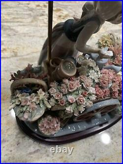 Lladro Girl With Flower Cart Msrp $3500.00