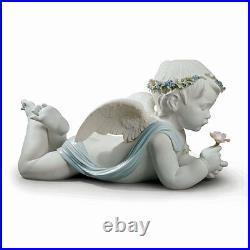 Lladro My Loving Angel Brand New In Box #9151 Large Boy Cherub Flower Save$$ Fs