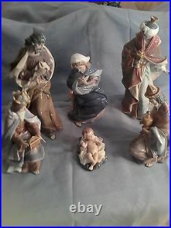 Lladro Porcelain Nativity Set (6 Figures) Beautiful Retired Authentic Large