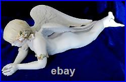 Lladro Precious Angel #8438 Brand New In Box Lady With Flowers Large Save$$ F/sh