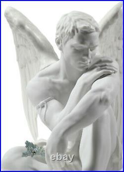 Lladro Protective Angel #8539 Brand Nib Male Angel Large Porcelain Save$$ F/sh