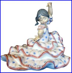 Lladro Spanish Dancer #5390 Brand Nib Girl Flamingo Rare Flamenco Save$$ F/sh