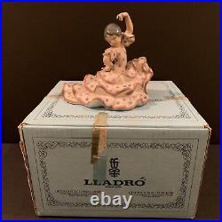 Lladro Spanish Dancer #5390 Flamenco Girl In Polka Dot Dress Perfect! Box