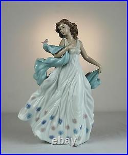 Lladro Summer Serenade #6193 Brand Nib Elegant Young Woman Bird Large 12.5 High