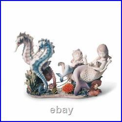 Lladro Underwater Journey Mermaid Figurine. Limited Edition 01006929