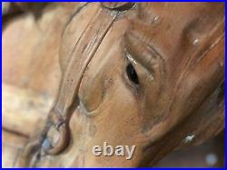 Looff Mare Antique 1890s Hand Carved wooden Carousel Horse Western by John Zalar