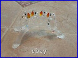 Lot Of 8 SWAROVSKI color Crystal Birds And Butterflies RARE RETIRED