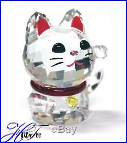 Lucky Cat Asian Symbols Japanese 2018 Swarovski Crystal 5301582