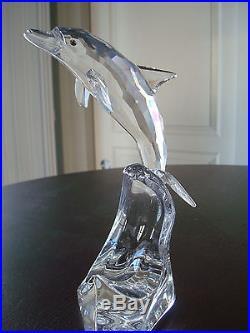 MINT Swarovski Crystal Maxi Dolphin Figurine NEVER DISPLAYED 221628 RETIRED NEW