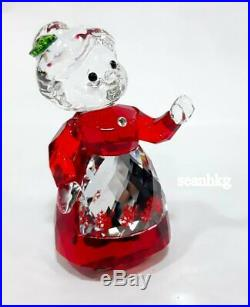 MRS. CLAUS, Apron Red & Clear Swarovski Crystal Authentic MIB 5464887