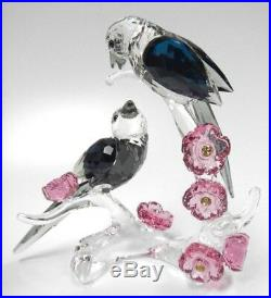 Magpies Asian Symbols Colorful Birds With Flowers 2018 Swarovski Crystal 5371643