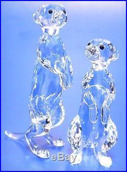 Meerkats Clear Set Rare Encounters Animals 2016 Swarovski Crystal #5135929