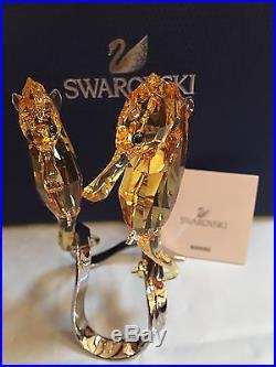 Mib $325 Swarovski Crystal Golden Seahorse Light Topaz #5103233
