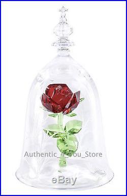 NEW Disney Beauty & the Beast Enchanted Rose Swarovski LE 350 Glass Figurine NIB