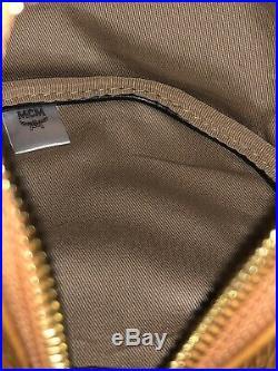 NEW MCM Cognac Zoo Teddy Bear Backpack & Bag Swarovski Eyes