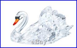 NIB $1029 Swarovski Graceful Swan Large Clear Crystal Red Beak #1141713