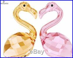 NIB $119 Swarovski Crystal In Love Claude & Claudine Flamingo Pair #5136525