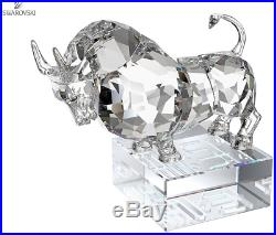 NIB $325 Swarovski Crystal Chinese Zodiac Ox Silver Shade #1121179