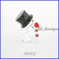 NIB Swarovski 5464886 Snowman with Candy Cane Figurine Christmas Holiday Crystal
