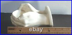 N. Funk Ceramics Vintage Hand Made Cast Life Mold Wall Mount Cupped Hands Holder