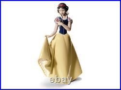 Nao By Lladro #1680 Snow White Brand Nib Disney Flower Save$ Large Free Shipping