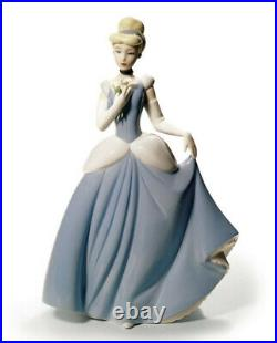 Nao By Lladro #1681 Cinderella Brand Nib Disney Princess Blue Large Save$$ F/sh