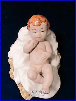 Nao By Lladro Gres Nativity Set Bnib Christmas Jesus, Mary, Joseph, Calf, Donkey