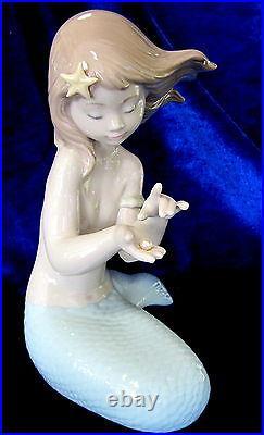 Nao By Lladro Jewel Of The Sea #1368 Brand Nib Mermaid Pearl Fantasy Large F/sh