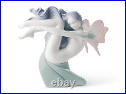 Nao By Lladro Water Fairy #1637 Brand New In Box Fantasy Ocean Cute Save$$ F/sh