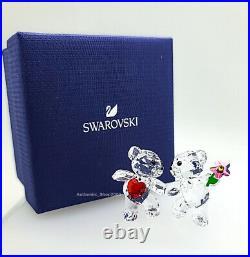 New 100% SWAROVSKI Kris Bear Happy Together Crystal Figurine Display 5558892