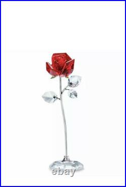New In Box Authentic Swarovski Flower Dreams Red Rose Crystal Figurine #5490756