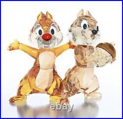 New In Box Swarovski Disney Chipmunk Duo CHIP N DALE Crystal Figurine #5302334