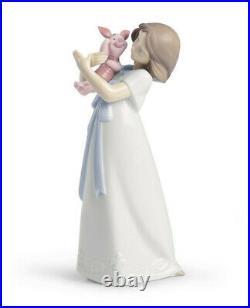 New Nao By Lladro Cuddles With Piglet Brand Nib #1587 Winnie The Pooh Disney F/s