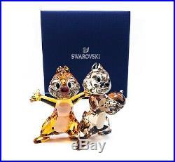 New SWAROVSKI Disney Chip'N' Dale Sparkle Crystal Figurine Display 5302334