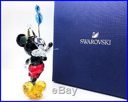 New SWAROVSKI Disney Mickey Celebration Balloon Crystal Figurine Display 5376416