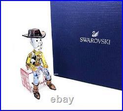 New SWAROVSKI Disney Pixar Toy Story Sheriff Woody Crystal Figurine Display