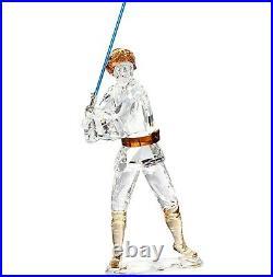 New SWAROVSKI Disney Star Wars Luke Skywalker Crystal Figurine Display 5506806