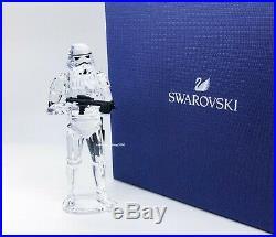 New SWAROVSKI Disney Star Wars Stormtrooper Crystal Figurine Display 5393588