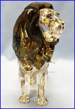 New Swarovski Crystal 2016 SCS Lion Akili #5135894 with COA NIB